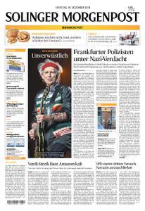 Solinger Morgenpost – 18. Dezember 2018