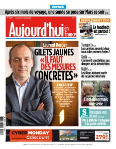 Aujourd'hui en France du Lundi 26 Novembre 2018
