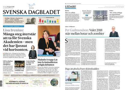 Svenska Dagbladet – 31 augusti 2018