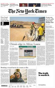 International New York Times - 14 January 2019