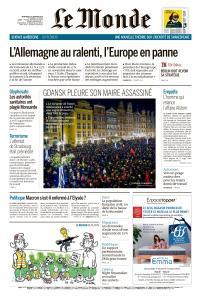 Le Monde du Mercredi 16 Janvier 2019