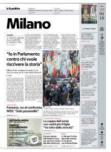 la Repubblica Milano - 20 Gennaio 2018