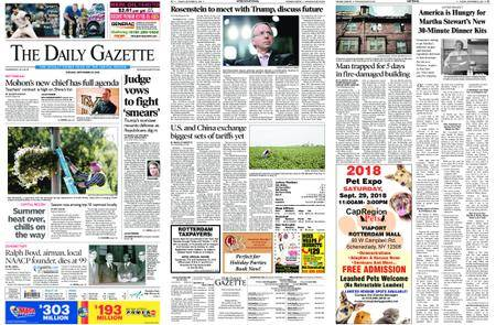 The Daily Gazette – September 25, 2018