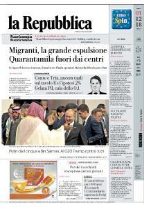 la Repubblica - 1 Dicembre 2018