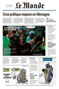 Le Monde du Mardi 21 Novembre 2017