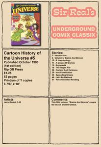 Cartoon History of the Universe 05 1st Edition 1980 Rip Off Press Sir Real