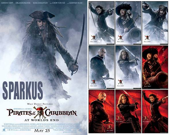 Pirates of the Caribbean 3 Movie Posters