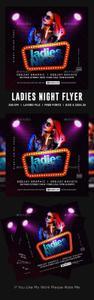 Graphicriver - Ladies Night Club Flyer 23357313