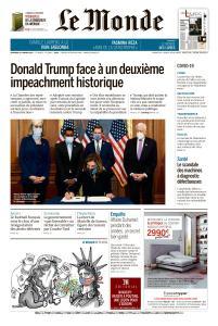 Le Monde du Vendredi 15 Janvier 2021