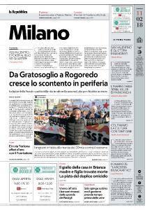 la Repubblica Milano - 11 Febbraio 2018