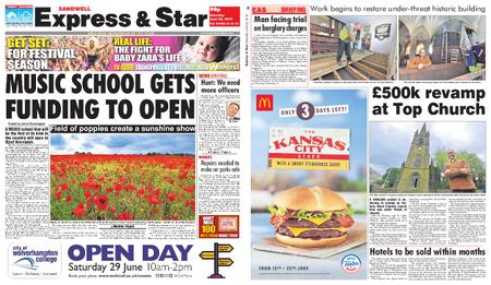 Express and Star Sandwell Edition – June 22, 2019