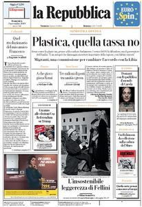la Repubblica - 3 Novembre 2019