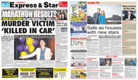 Express and Star Sandwell Edition – September 07, 2017