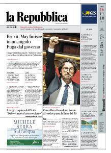 la Repubblica - 16 Novembre 2018