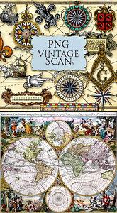 Old Maps & PNG Antique Maps Elements