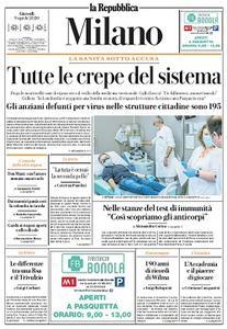 la Repubblica Milano - 9 Aprile 2020