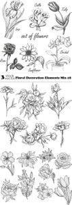 Vectors - Floral Decoration Elements Mix 18