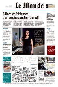 Le Monde du Jeudi 16 Novembre 2017