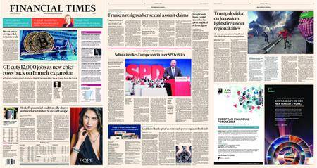 Financial Times Europe – 08 December 2017