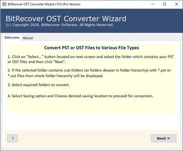 BitRecover OST Converter Wizard 10.8.1