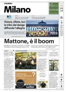 la Repubblica Milano - 11 Aprile 2019