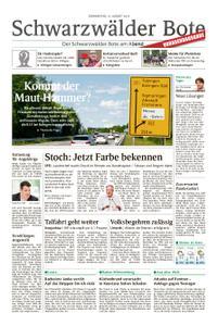 Schwarzwälder Bote St. Georgen, Triberg, Furtwangen - 15. August 2019