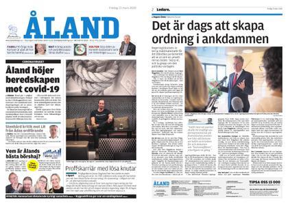 Ålandstidningen – 13 mars 2020