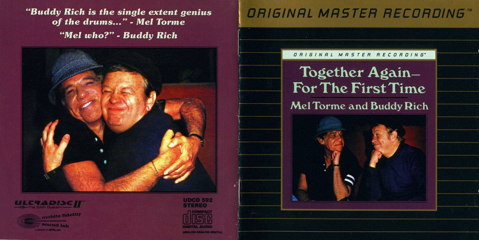 Mel Torme & Buddy Rich - Together Again - for the First Time (1978) [MFSL, UDCD 592]