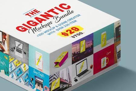 CreativeMarket - The Gigantic Mock-ups Bundle