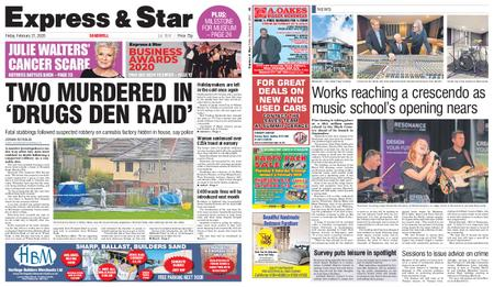 Express and Star Sandwell Edition – February 21, 2020