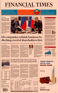 Financial Times Europe – 20 August 2019