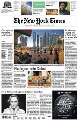 International New York Times - November 11-12, 2017