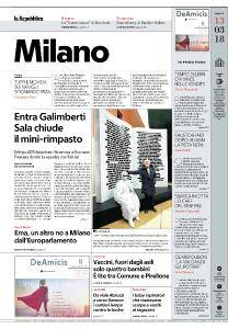 la Repubblica Milano - 13 Marzo 2018