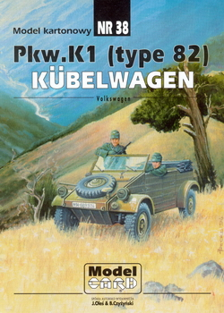 ModelCard 038 Volkswagen Pkw.K1 (type 82) Kubelwagen