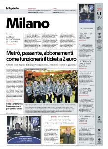 la Repubblica Milano - 29 Gennaio 2019