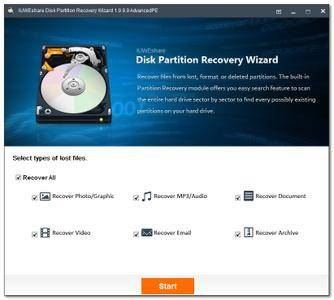 IUWEshare Disk Partition Recovery Wizard 7.9.9.9 Unlimited / AdvancedPE