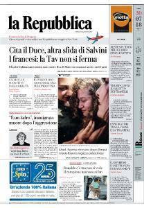 la Repubblica - 30 Luglio 2018
