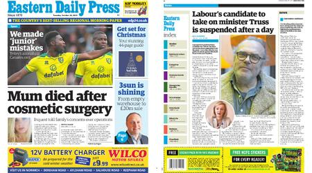 Eastern Daily Press – October 29, 2019