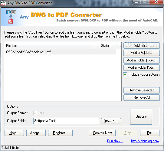 Any DWG to PDF Converter 2010