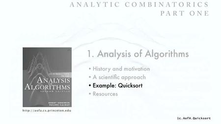 Coursera - Analytic Combinatorics: Part I + Part II (Princeton University)
