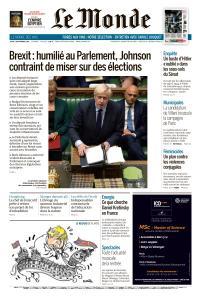 Le Monde du Jeudi 5 Septembre 2019