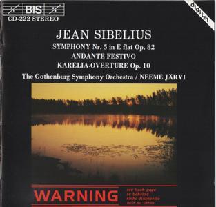 Gothenburg Symphony Orchestra, Neeme Järvi - Sibelius: Symphony No. 5, Andante Festivo, Karelia-Overture (1984)