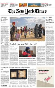 International New York Times - 10 May 2019