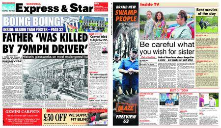 Express and Star Sandwell Edition – September 13, 2017