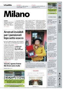 la Repubblica Milano - 8 Giugno 2018