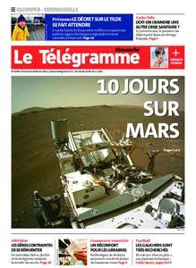 Le Télégramme Ouest Cornouaille – 28 février 2021