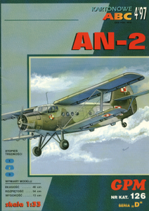 Paper model Gpm n° 126 Antonov An-2  Scale 1:33
