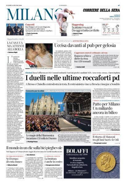 Corriere della Sera Milano - 11 Giugno 2018