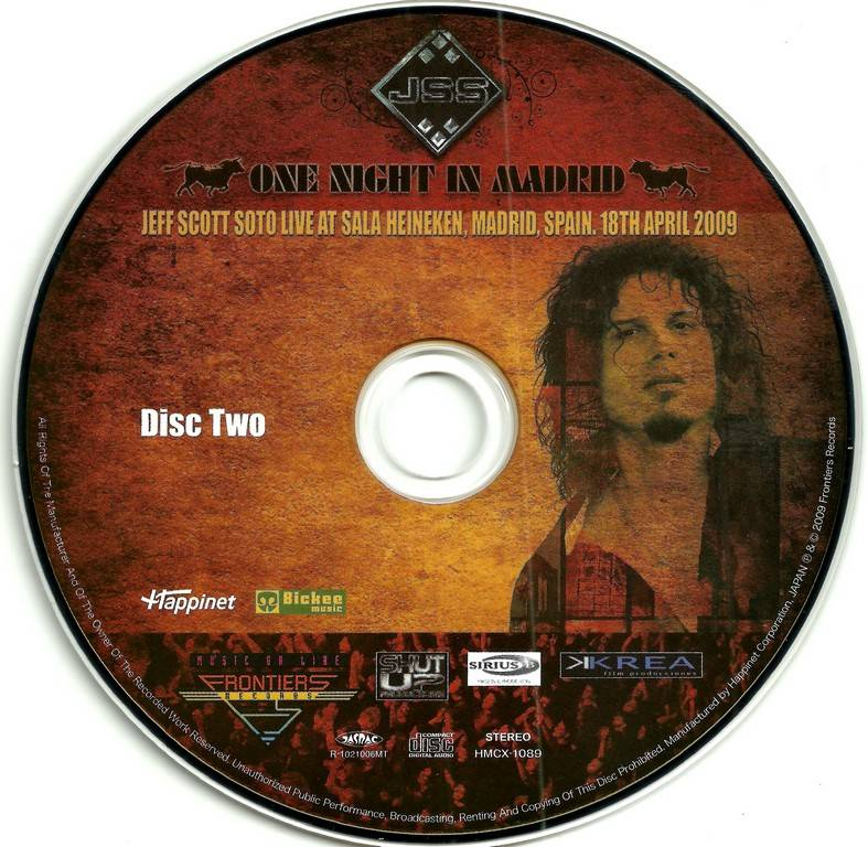 Jeff Scott Soto - One Night In Madrid (2009) {2010, Japanese Edition}