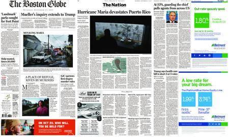 The Boston Globe – September 21, 2017